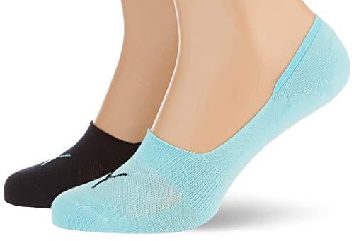 PUMA Footie (2 Pack) Calcetines, Blue/Black, 35/38 Unisex Adulto
