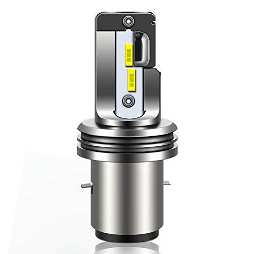WinPower Ba20d LED-koplamp, 12 V, 18 W, groot licht/dimlicht, 6000 K, koel wit lamp voor scooter motorfiets, 1 stuk