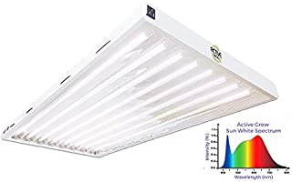 Active Grow T5 LED Grow Light Fixture for Indoor Gardens, Hydroponics & Vertical Racks - Contains (8) 24W T5 HO 4FT LED Tubes - Sun White Full Spectrum (High CRI 95) - UL Listed