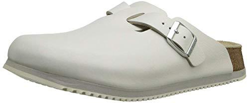 Birkenstock Unisex Professional Boston Super Grip Leather Slip Resistant Work Shoe,White,41 M EU