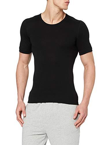 Susa Herren Thermounterwäsche - Oberteile Angora Unterhemd s8010070, Einfarbig, Gr. Medium, schwarz (schwarz s750)