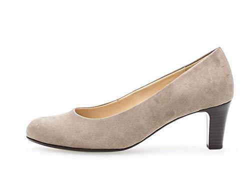 Gabor 95-300 Schuhe Damen Microvelour Pumps Weite F , Schuhgröße:41, Farbe:Beige