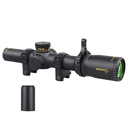VT1-6X24FFP First Focal Plane (FFP) Scope with Red/Green Illuminated Reticle Includes Scope Mount