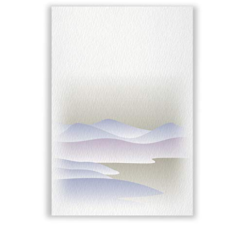 高級紙 私製 喪中はがき 文例印刷入 30枚 デザインNo.035(無地)
