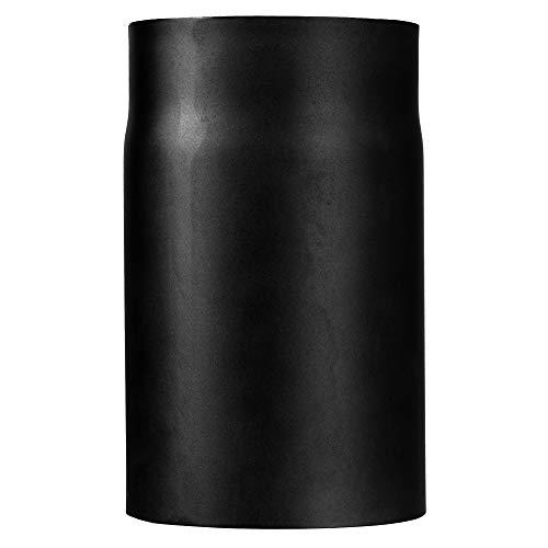 Ofenrohr Kaminrohr I matt dunkelgrau schwarz I 250 mm lang I 150 mm Durchmesser. Abgasrohr Zubehör zum Tauke Rauchrohr Set I Profi Zubehör mit Senotherm Lack Beschichtung und Tauwechsel System