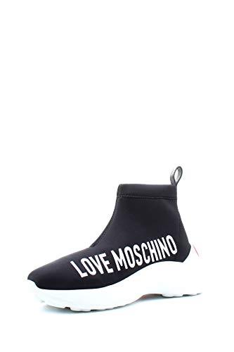 Love Moschino Love Sock Neoprene Femme Baskets Mode Noir