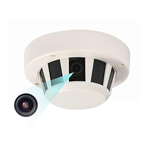 Revotech Interno Telecamera IP PoE con Microfono, Tipo di rilevatore di fumo Telecamera di Sicurezza ONVIF P2P Videocamera CCTV H.265 3MP Nessuna visione notturna (I239-P-Audio)