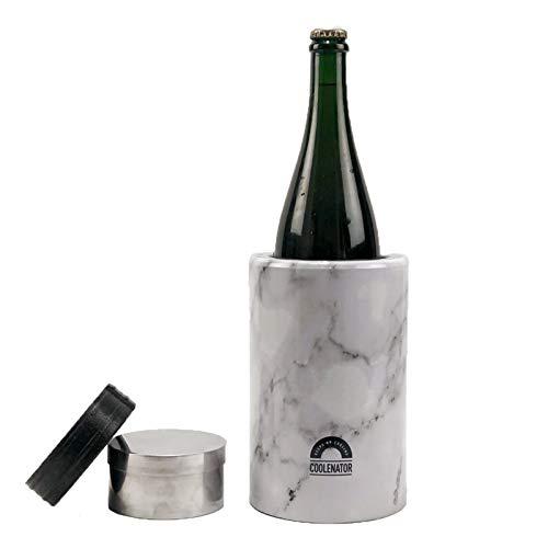 Coolenator Pro con elemento di congelamento rimovibile, raffreddatore attivo, fino a 6 ore, adatto per tutti i tipi di bottiglie e caraffe, leggero e resistente, disponibile in 3 colori, marmo bianco