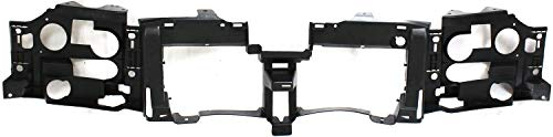 Garage-Pro Header Panel Compatible with CHEVROLET TRAILBLAZER 2002-2009 ABS Plastic Black