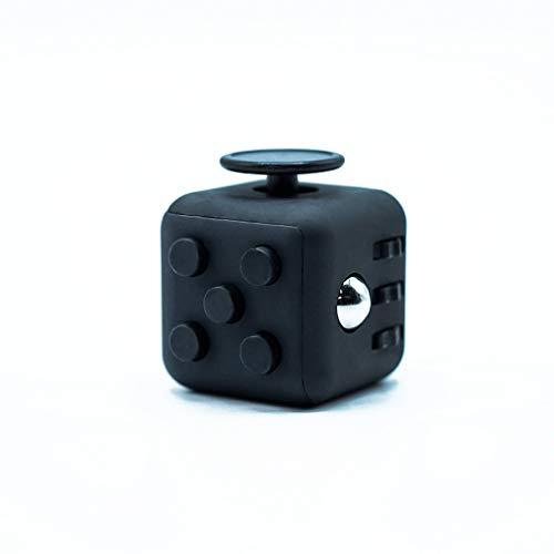 MerDen - Fidget Cube mit 6 Seiten – Gadget zum Entspannen im Büro oder gegen Nervosität im Alltag – hochwertiger Anti-Stresswürfel zum Mitnehmen – kleines Geschenk für Männer - Frauen oder Jugendliche