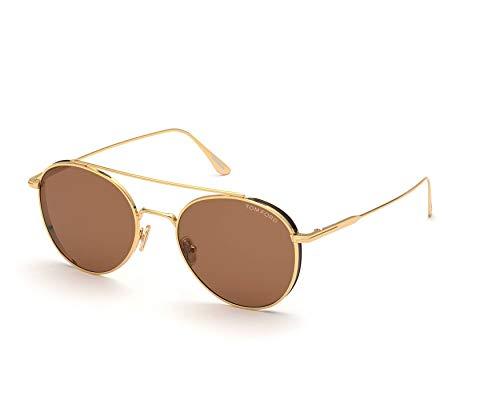 Gafas de Sol Tom Ford DECLAN FT 0826 Shiny Gold/Brown 54/20/145 unisex