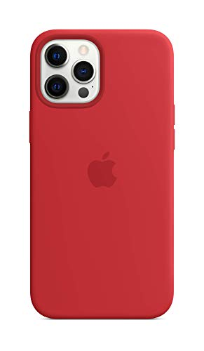 Apple SilikonCase mit MagSafe (für iPhone 12 Pro Max) - (Product) RED