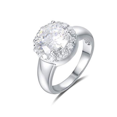 Quiges Klassieke Entourage Ring van Zilver met Zirkonia Kristallen voor Dames