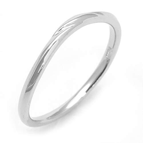 刻印無料 リング レディース メンズ ペア 指輪 プラチナ Pt900 プラチナリング 繊細 ウェーブ ライン デザイン ギフトボックス 繊細 華奢 華やか 上品 PLATA Jewelly Ring ペアリング 日本製 プレゼント 贈り物 【 18号 】