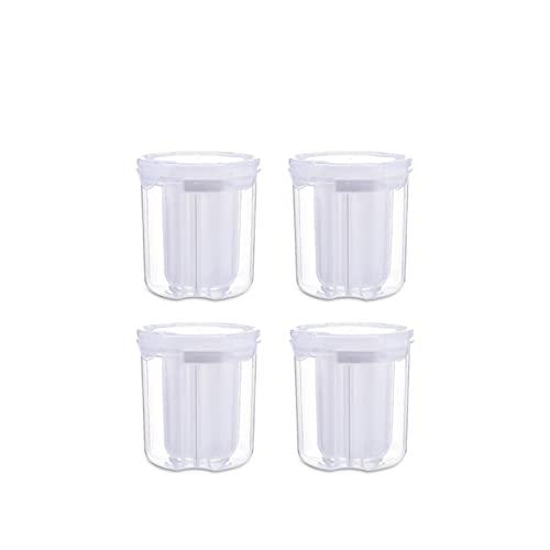 PrittUHU Separador Almacenamiento Almacenamiento Contenedor de plástico Cocina Caja de Almacenamiento Caja de Almacenamiento Trass Cubierta Gira giratoria 3/4 Gridos (Color : S4)