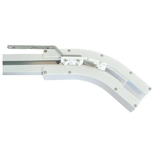 Rollerhouse 135 Degree U Type and L Type Window Electric Curtain Track Joiner, Curved Belt Track for Electric Power Bay Window Curtain Rail (135 Degree)