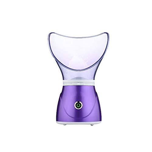 Angyu Instrumento de Reposición de Spray Mini de Reposición de Agua Instrumento de Belleza Vapor de Cara de Mano Humidificador (Morado(US),12.5 * 12.5 * 21 cm)