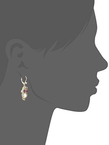 Betsey Johnson Pearl Critters Owl Drop Earrings