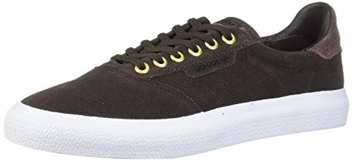 adidas Originals Men's 3MC Regular Fit Lifestyle Skate Inspired Sneakers Shoes, Brown/White/Gold Metallic, 11 M US