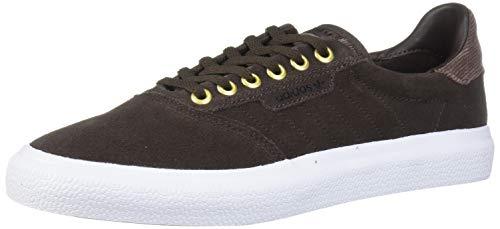 adidas Originals 3MC Sneaker, Brown/White/Gold Metallic, 10.5 M US