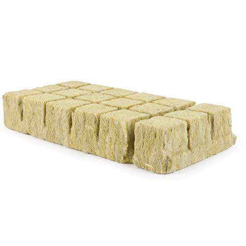 Hemoton Steinwolle Anzuchtmatte 3,6 X 3,6 cm 18 Stück 1,5 Zoll Hydroponik Anzuchtmatte Gemüse Sämling Gewächshäuser Gartengeräte Anzucht Zubehör Anbausystem