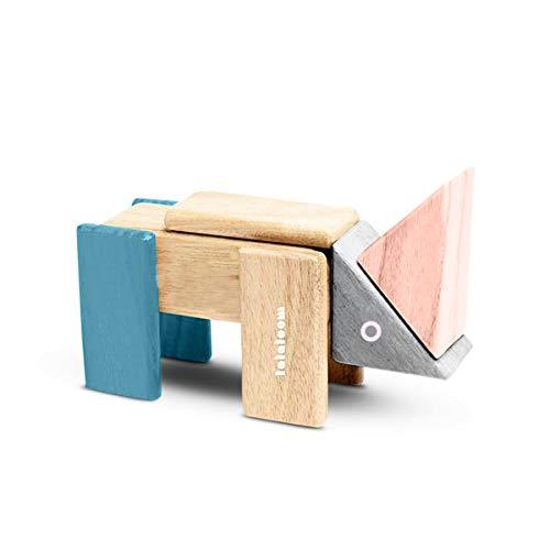 Lalaloom 23 MAGNO BLOCKS - Juego de construccion de madera (bloques magnéticos de madera para niños, construir figuras, juguete educativo infantil de 23 piezas), Multicolor