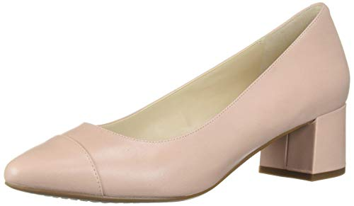 Cole Haan Women's THE GO-TO BLOCK HEEL PUMP (45MM), MAHOGANY ROSE LEATHER WP