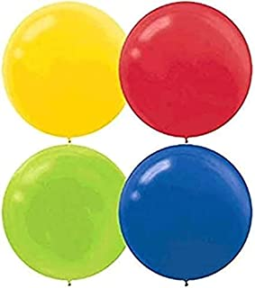 Round Latex Balloons | Assorted Colors | Pack of 4 | Party Decor