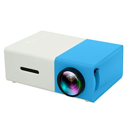 DYYAN Proyector de Video 1080P Full HD Compatible, Pantalla de 600 '' HDMI, USB, VGA, AV, Micro SD Altavoces duales Proyector doméstico de 30000 Horas