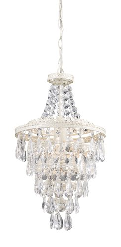 Sterling 122-002 Clear Crystal Hanging Pendant Lamp