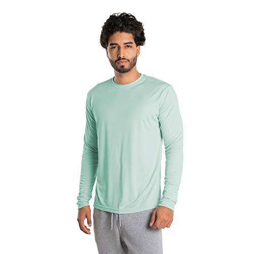 Vapor Apparel Herren Atmungsaktives UPF 50+ UV Sonnenschutz Langarm Funktions T-Shirt XXXX-L Seegras