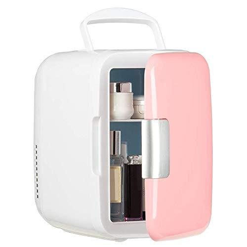 OVBBESS Refrigerador portátil de 4 litros y calentador de coche para cuidado de la piel, alimentos de leche, dormitorio y nevera de viaje