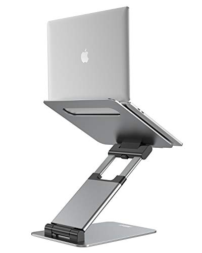 Nulaxy Laptop Stand, Ergonomic Sit to Stand Laptop Holder Convertor, Adjustable Height from 2.1' to...