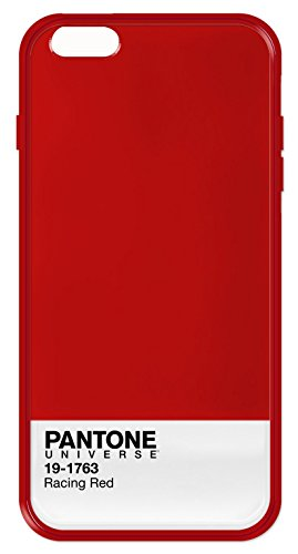 Case Scenario Pantone Universe - Cover Posteriore con Bumper per iPhone 6 Plus, Colore: Rosso - Racing Red