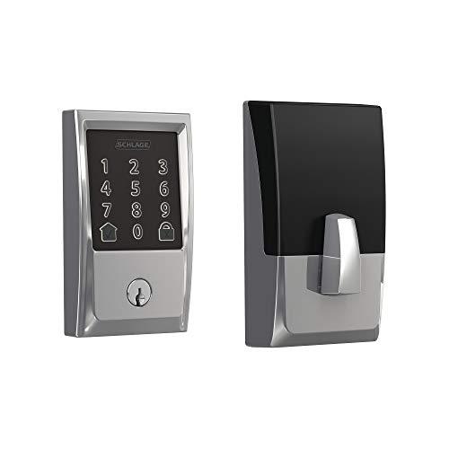 Schlage BE489WB CEN 625 Encode Deadbolt Smart Lock | WiFi Touchscreen Keypad, Bright Chrome