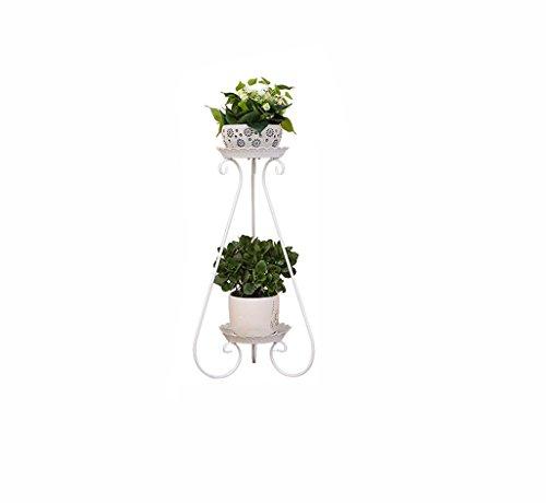 MLHJ Stand de Fleurs- Support de Fleur de Fer européen, Pot de Fleurs au Sol à Plusieurs étages intérieur et extérieur de Style européen Fleur Salon Balcon étagère à Fleurs (Taille : 80 * 36cm)