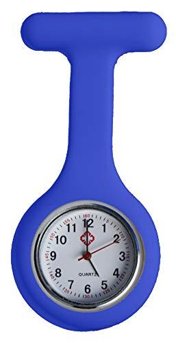 All u need Krankenschwester Schwesternuhr Taschenuhr Kitteluhr Pulsuhr Pflege Nurse Watch Königsblau