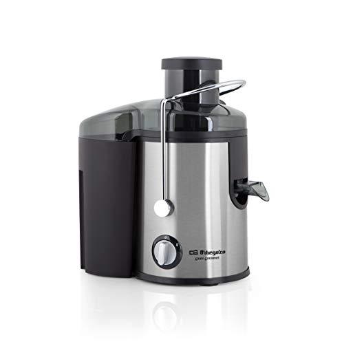 Orbegozo LI 5060 - Licuadora para verduras y frutas, acero inoxidable, boca ancha de 65 mm, sistema antigoteo, 600 W de potencia