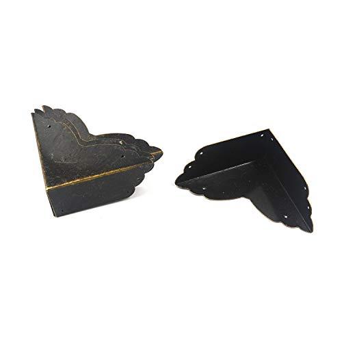 "Karcy Corner Protectors Metal Bronze Box Corners Corner Decorative Side Length 2.8"" Set of 4"