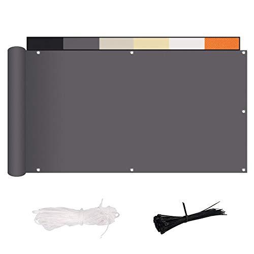 MENGH Balkon Sichtschutz (315 Größen 6 Farben) Balkonabdeckung Balkonsichtschutz Balkonverkleidung blickdichte Wind- und UV-Schutz, Polyester