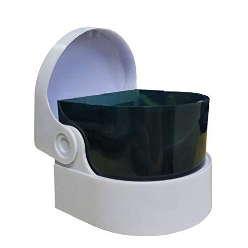 Portátil vibrante limpiador de la joyería de la dentadura limpiador de múltiples funciones máquina de limpieza de los anillos dominantes Relojes monedas joyería con pilas 1PC para la joyería