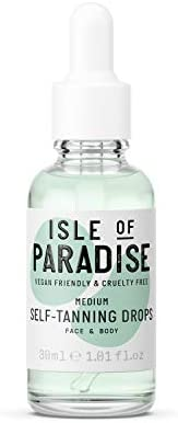 Isle of Paradise Fake Tan Drops Dark (30 ml) Add Self Tanning Drops to Skin Care Natural Ingredients & Vegan