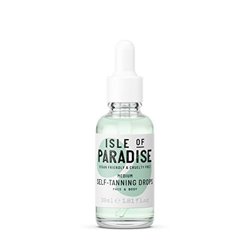 Isle of Paradise Gocce Autoabbronzanti, Media, 30 ml, Viso e Corpo