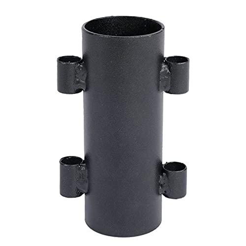 Qagazine Soporte para poste de toldo para barra de camping, postes de toldo a prueba de viento, soporte fijo para tienda de campaña al aire libre
