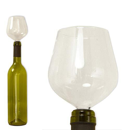Weinglas Ausgießer mit Silikondichtung - Flaschenaufsatz Flaschenverschluss Weinstopper