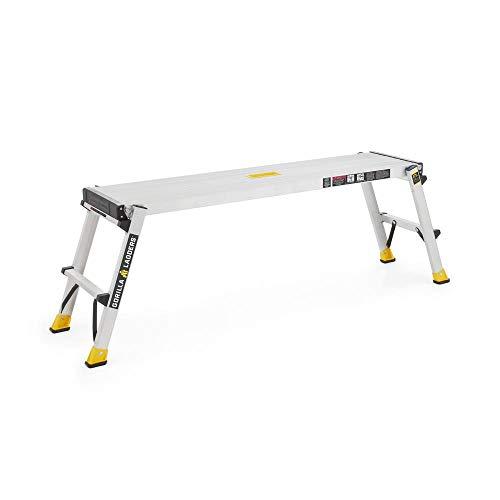 Aluminum Heavy-Duty PRO Slim-Fold Work Platform Ladder