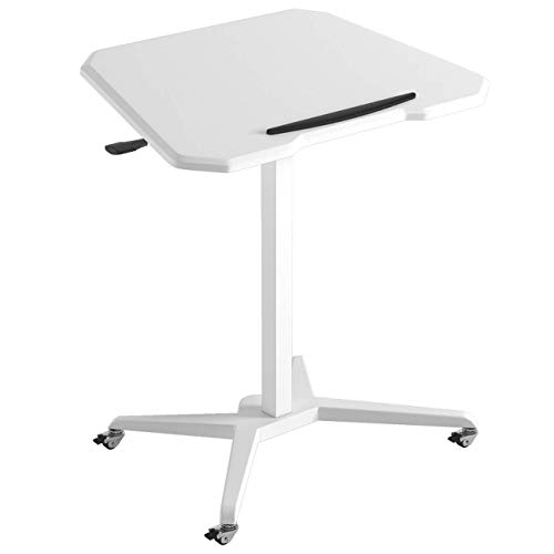 LGJ1201 Laptop Table Mobile Computer Desk Workstation Height Adjustable Bedside Table Side Table Bed Table Sofa Table Tiltable Storage Shelf With Wheels