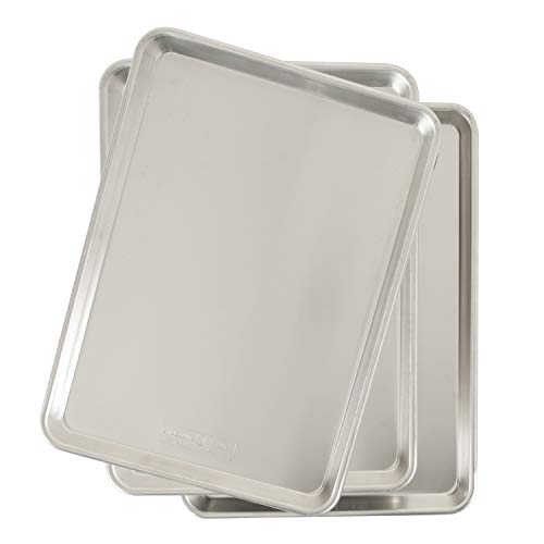 Nordic Ware Natural Aluminum Commercial Baker's Half Sheet (3 Pack)