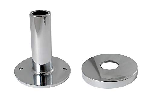 Keeney K857-30 PEX Stub-Out Support and Cover, Chrome