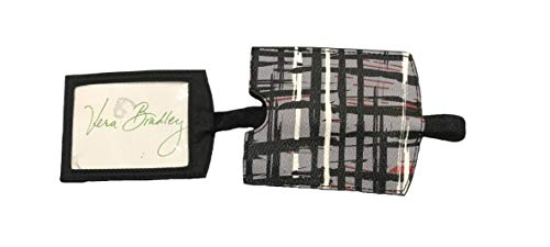 Vera Bradley ID Luggage Tag (Black/White Art Plaid)